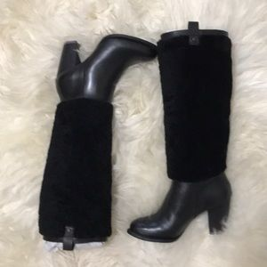 Blk UGG Ava shearling tall boots NWT